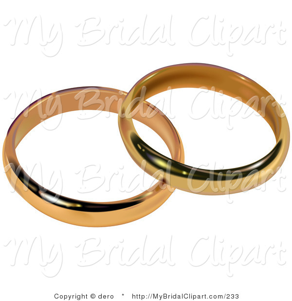 Of two gold bands. Bridal clipart wedding band