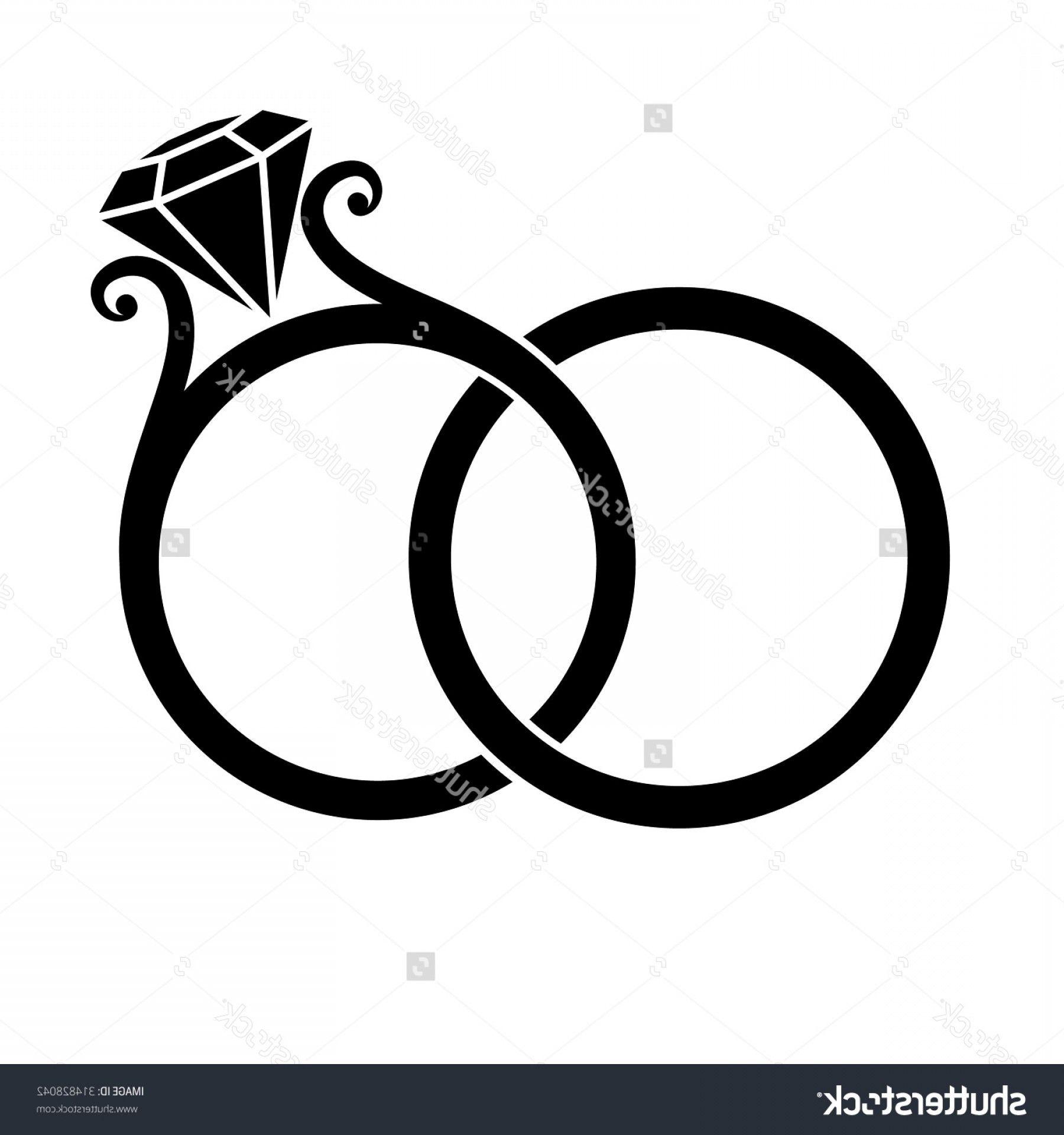 Clip art vector graphics. Bridal clipart wedding band