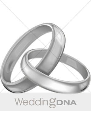 Bridal clipart wedding band. Silver bands ceremony