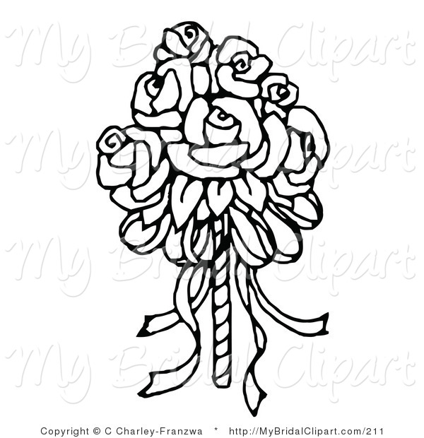 Bride clipart line drawing. Bridal of a coloring