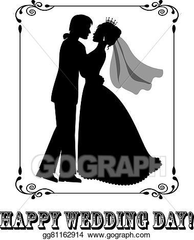 Clip art vector happy. Bridal clipart wedding day