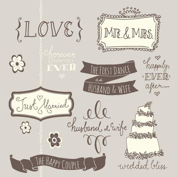 Clip art photoshop overlays. Bridal clipart wedding day