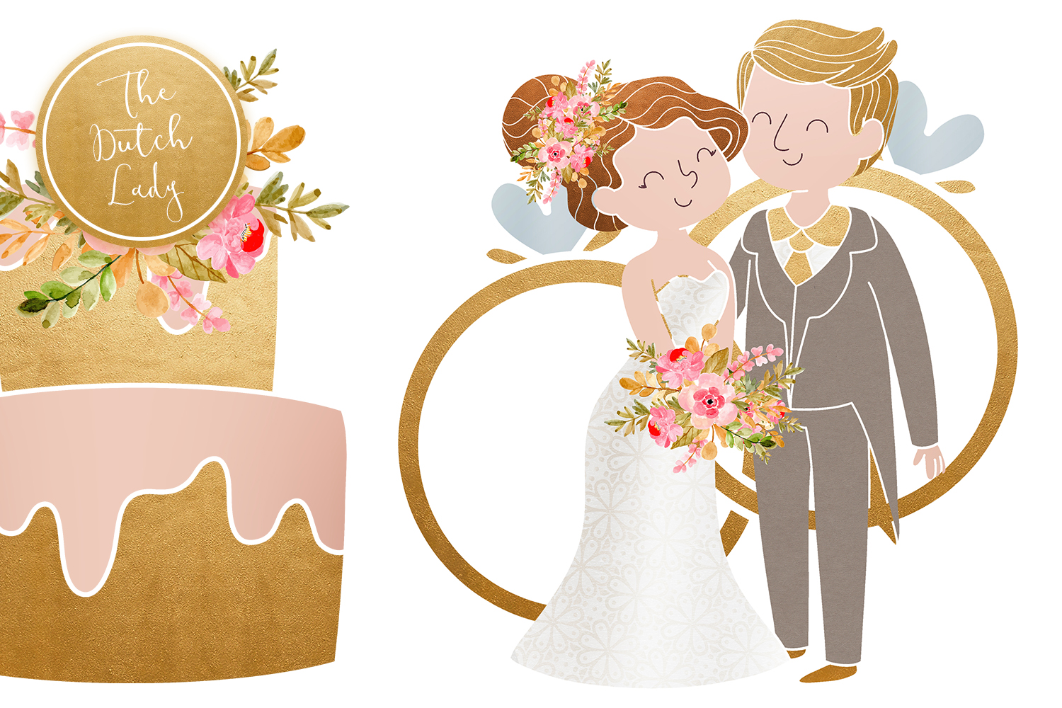 Bridal clipart wedding day. Marriage set vsual