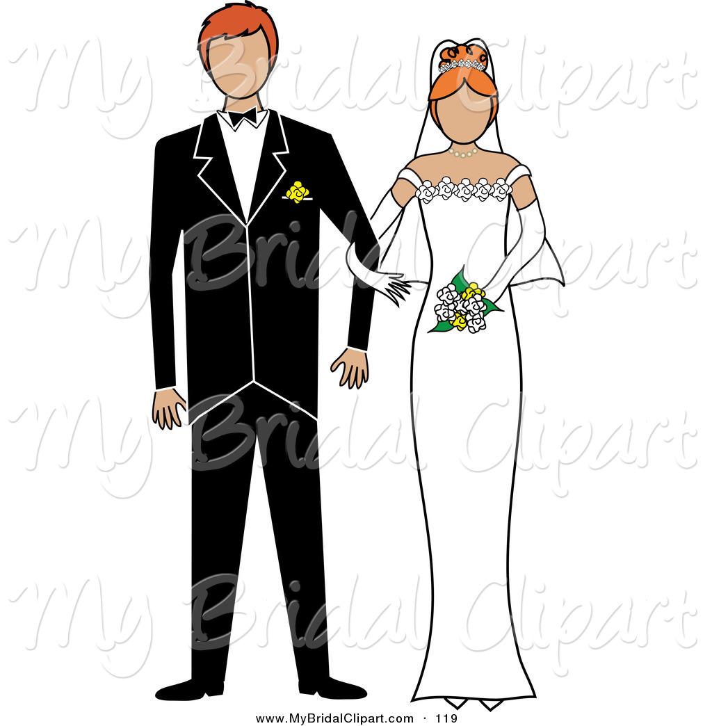 Bridal clipart wedding day. Of a irish bride