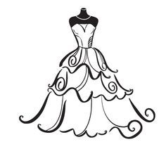Bridal clipart wedding dress. Google search shower pinterest