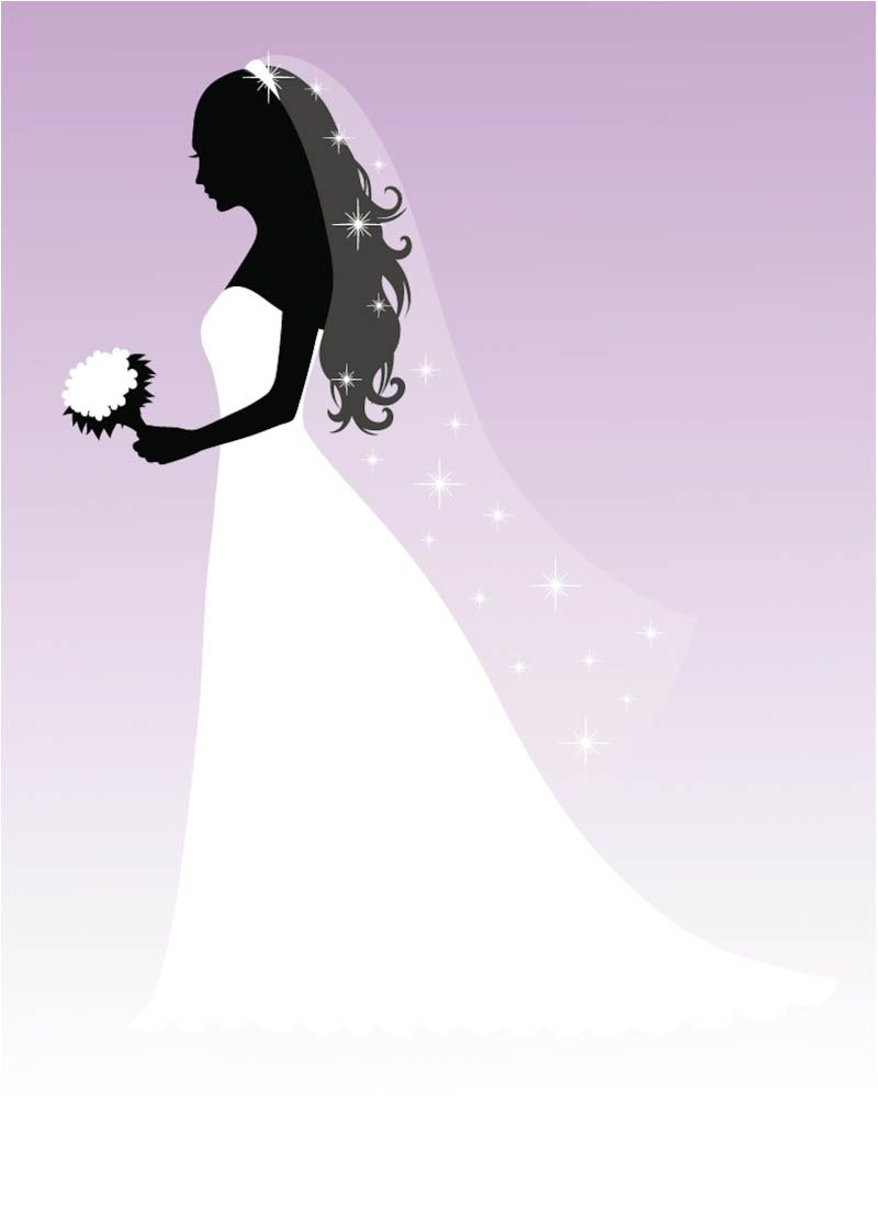Exotic fabulous bride concepts. Bridal clipart wedding dress