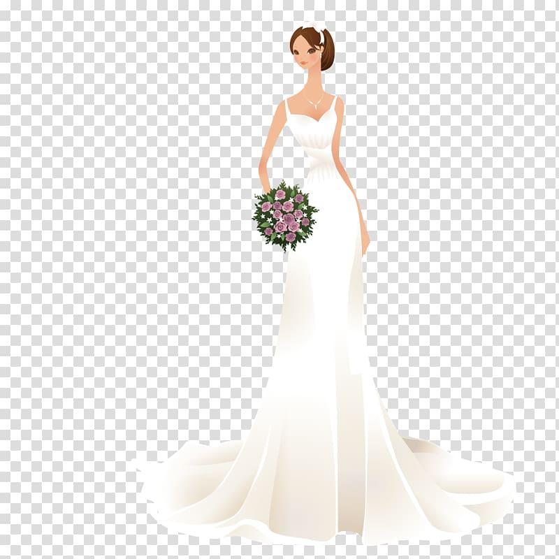 Contemporary western bride the. Bridal clipart wedding dress