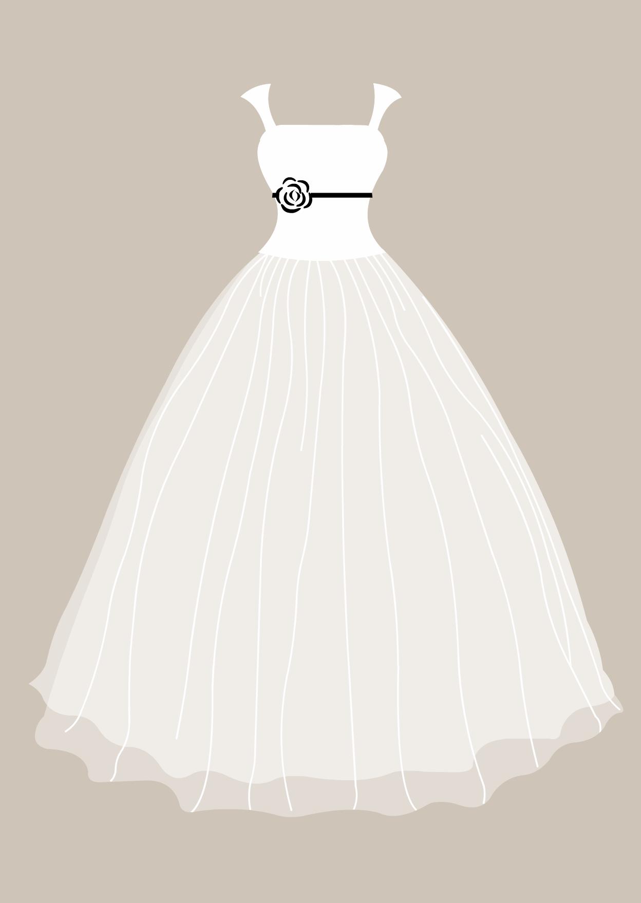 Free download clip art. Bridal clipart wedding dress