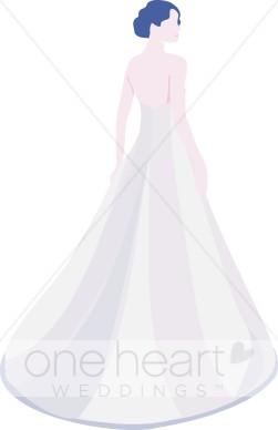 . Bride clipart wedding gown