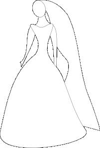 Bride clipart wedding gown. In dress clip art