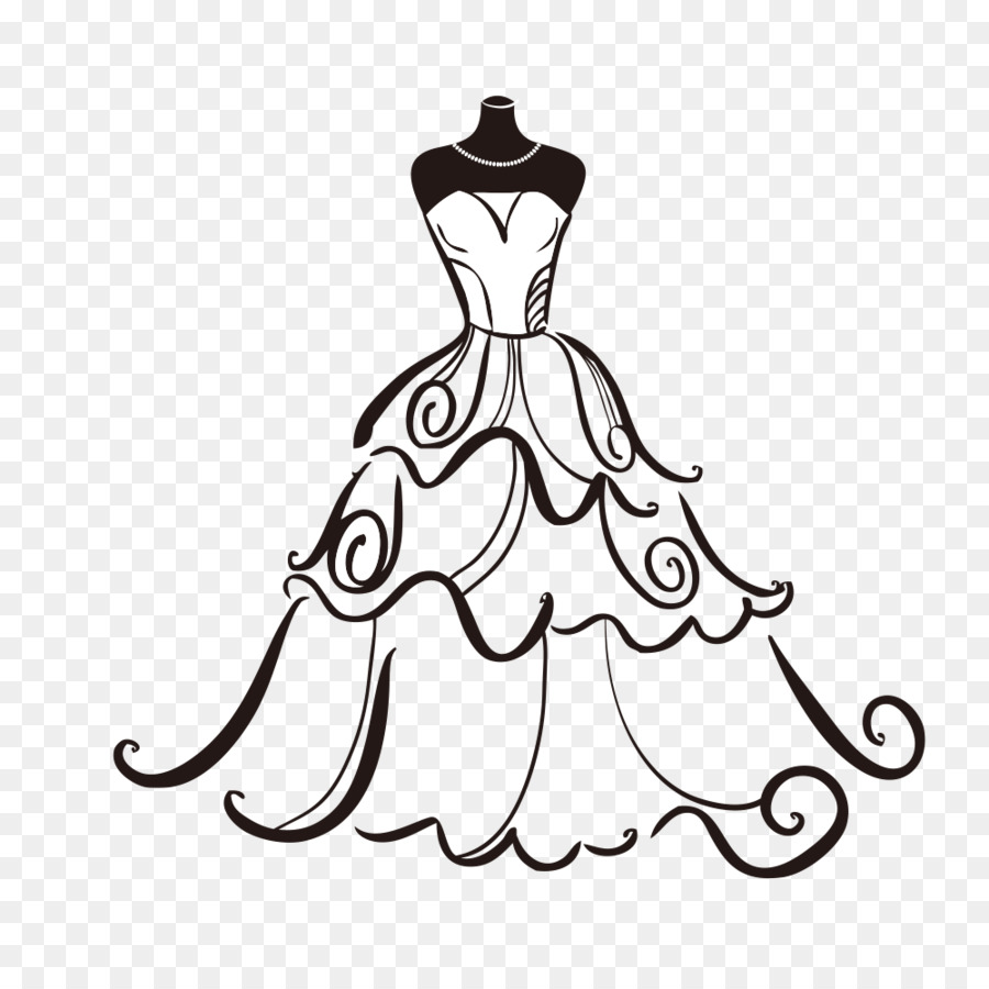 Dress clip art png. Bride clipart wedding gown
