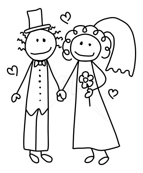 best images on. Bride clipart line drawing
