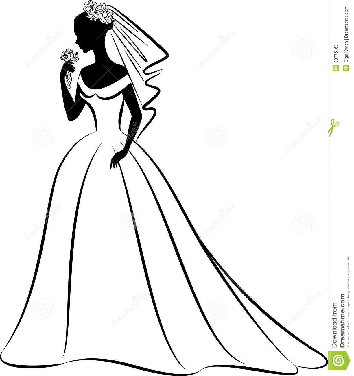Bride clipart black and white. Bridal clip art yahoo