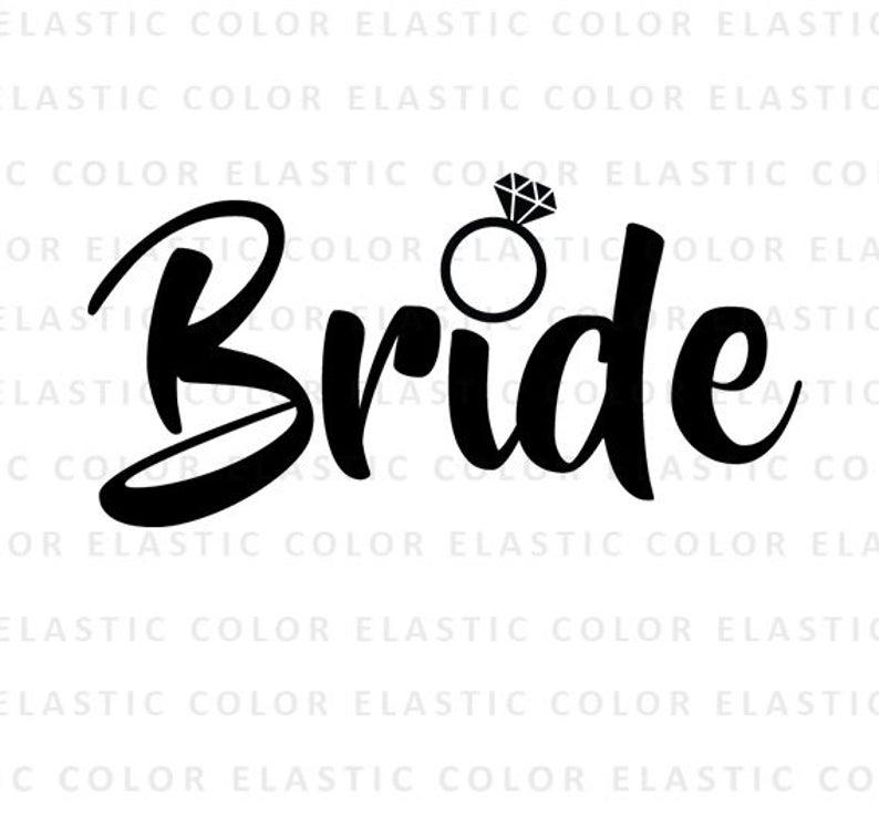 Svg art cut file. Bride clipart bride word