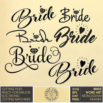 Shop vector eps on. Bride clipart bride word