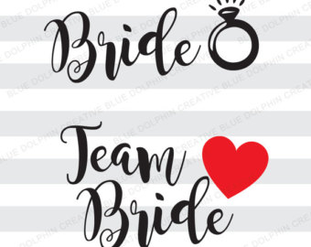 Bride clipart bride word. She said yes svg