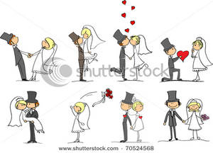 Bride clipart bridegroom. And groom in love