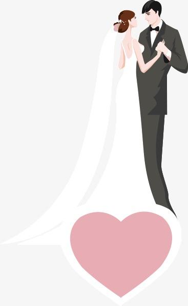 Western style wedding and. Bride clipart bridegroom
