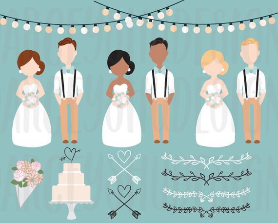 Wedding clip art and. Bride clipart christmas