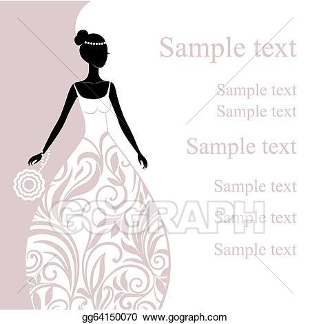 Bride clipart elegance. Vector illustration of a