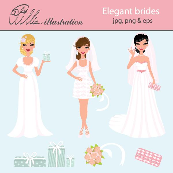 Bride clipart elegant bridal. Free brides cliparts download