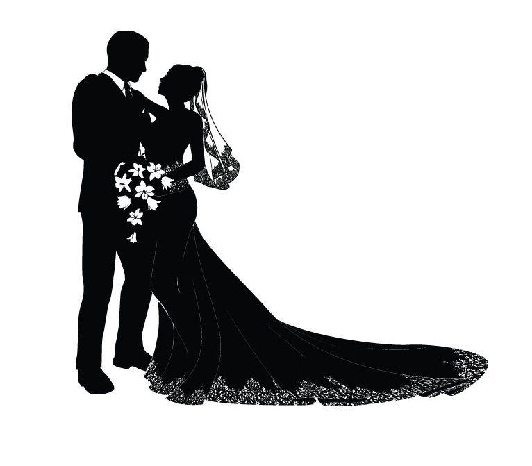 Free vector and groom. Bride clipart elegant bridal