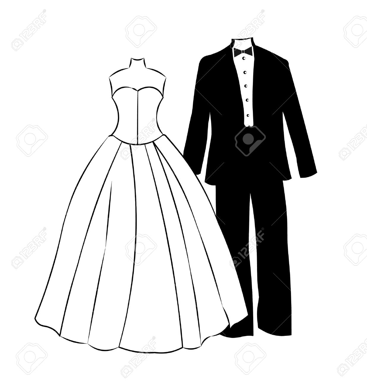 Formal silhouette at getdrawings. Bride clipart evening gown