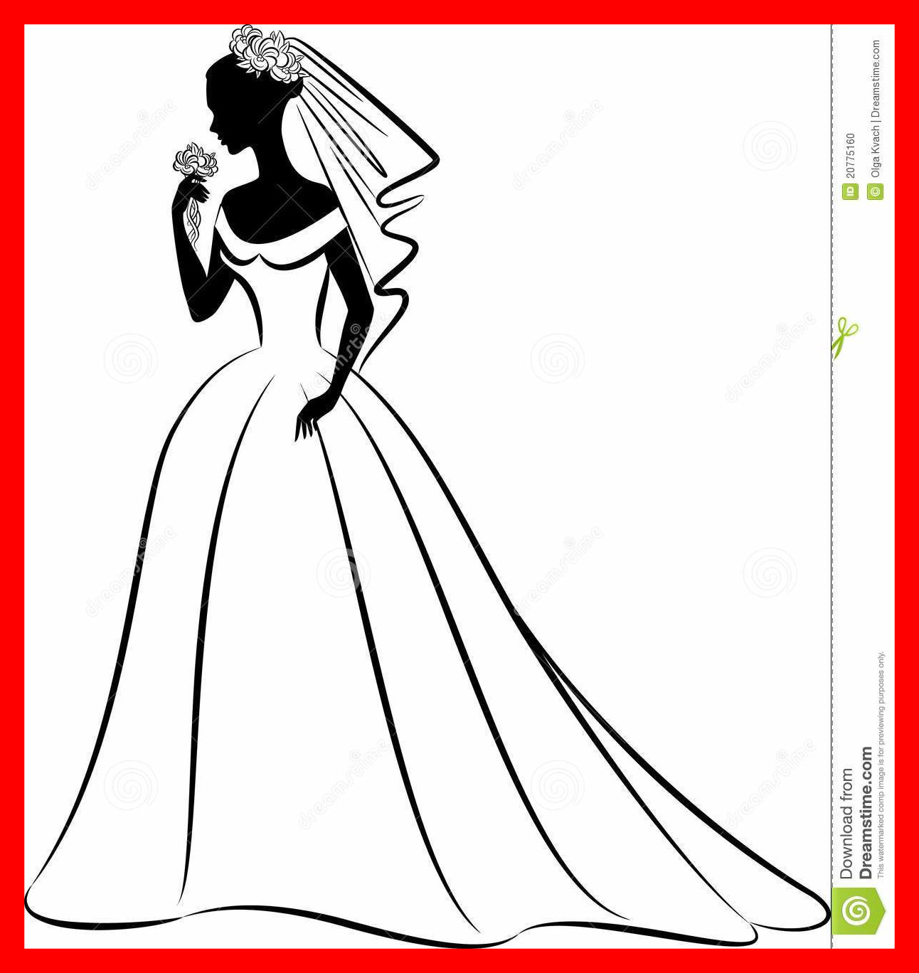 Bride clipart evening gown. Awesome silhouette of dress