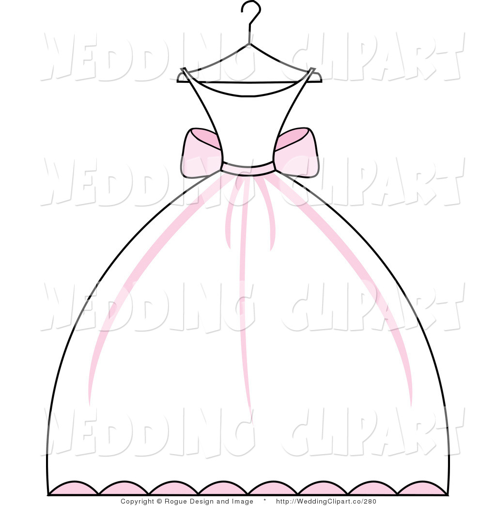 Dress silhouette clip art. Bride clipart evening gown
