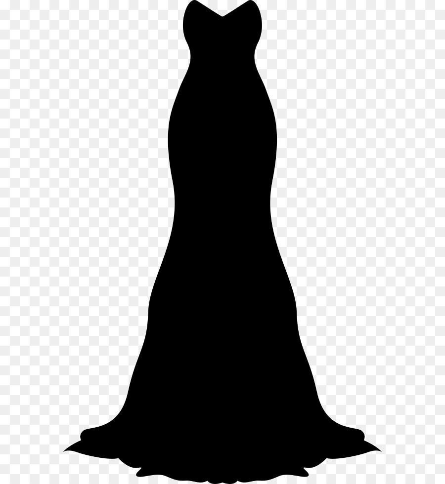 Wedding silhouette suit . Bride clipart evening gown