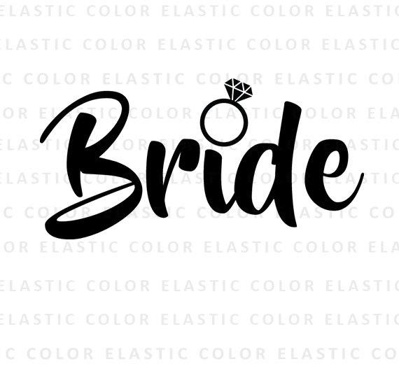 Svg word art cut. Bride clipart font
