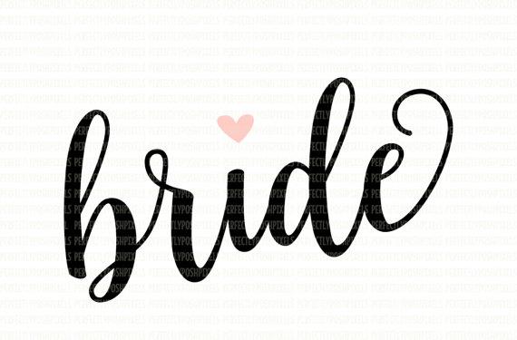 Svg file dxf eps. Bride clipart font