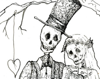 Bride clipart halloween. And groom clipartxtras cliparting