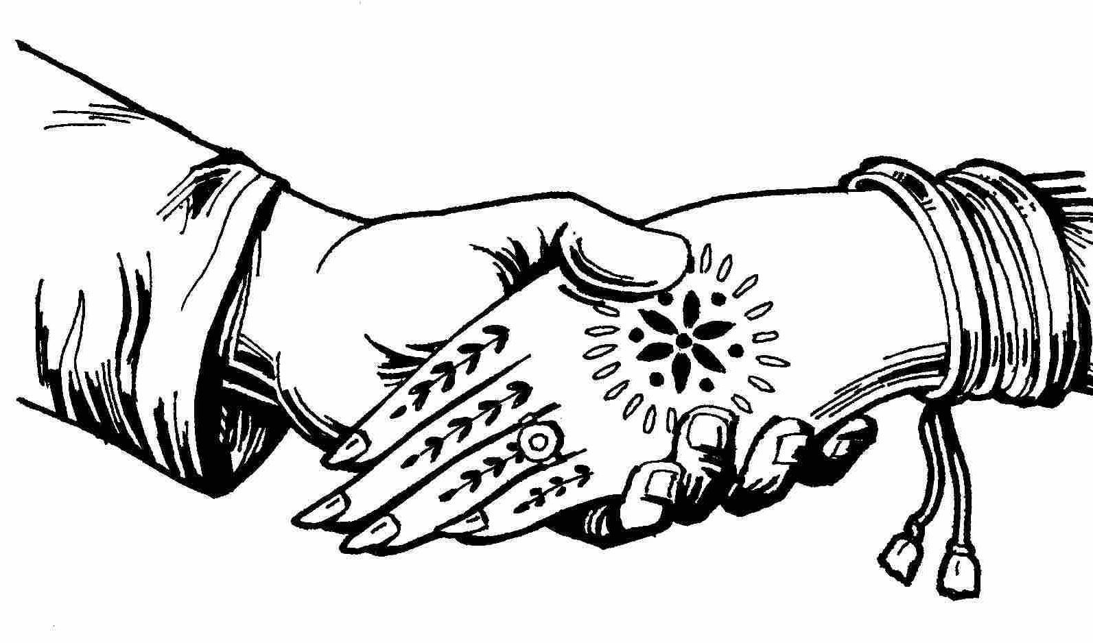 collection of indian. Bride clipart hands