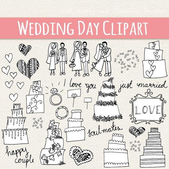Bride clipart hands. Clip art cute wedding