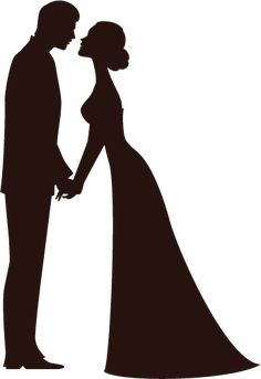 Bride clipart husband. Free and groom silhouette