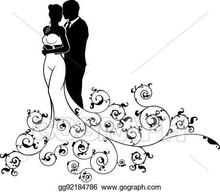 Clip art vector and. Bride clipart husband