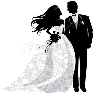 And groom silhouette clip. Bride clipart husband