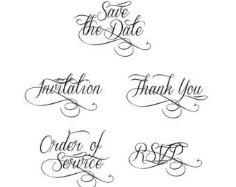 Clipart Wedding Invitation