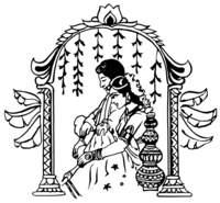 Enjoyable hindu wedding pencil. Bride clipart logo