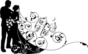 And station . Bridal clipart bride groom