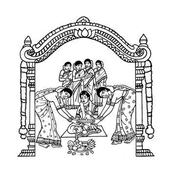 Hindu wedding cards matthew. Bride clipart logo