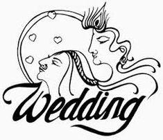 Bride clipart logo. Hindu wedding cards matthew