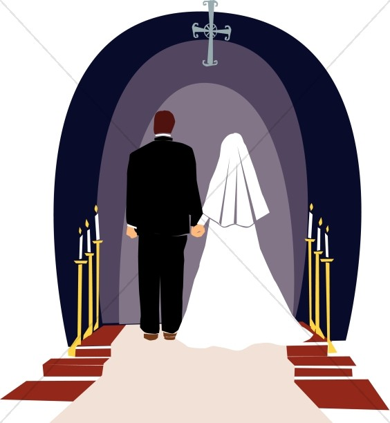 Religious wedding ceremony christian. Bride clipart married