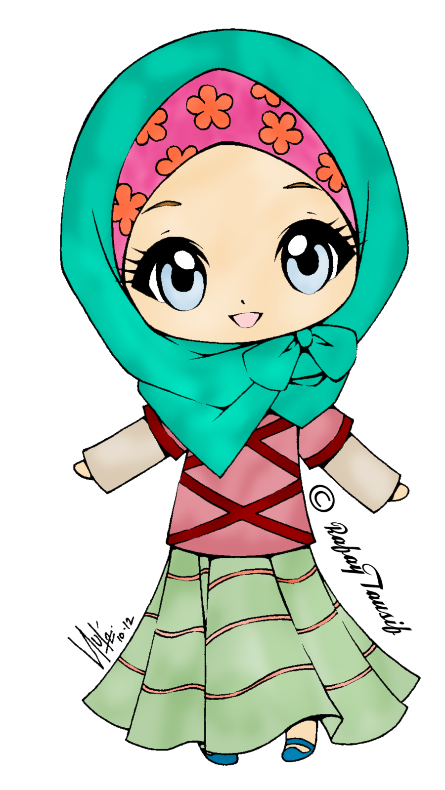 Girls clipart soldier. Islam muslimah cartoon free