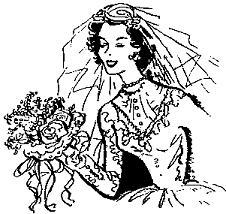 Groom cliparts vintage. Bride clipart retro