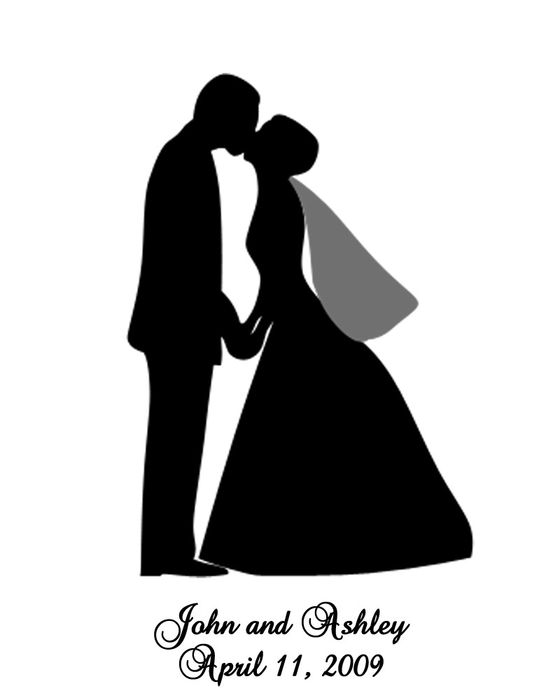 Free download clip art. Clipart wedding silhouette