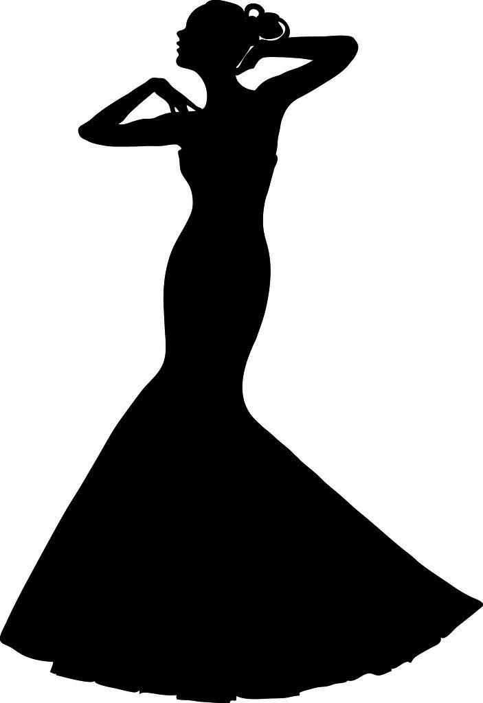 Fashion clipart wedding dress. Clip art illustration of
