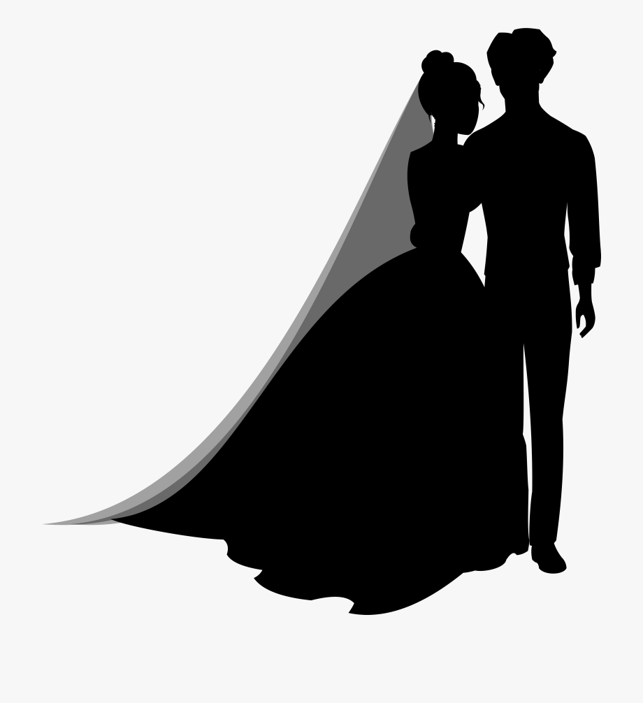Clipart wedding silhouette. Couple silhouettes png clip