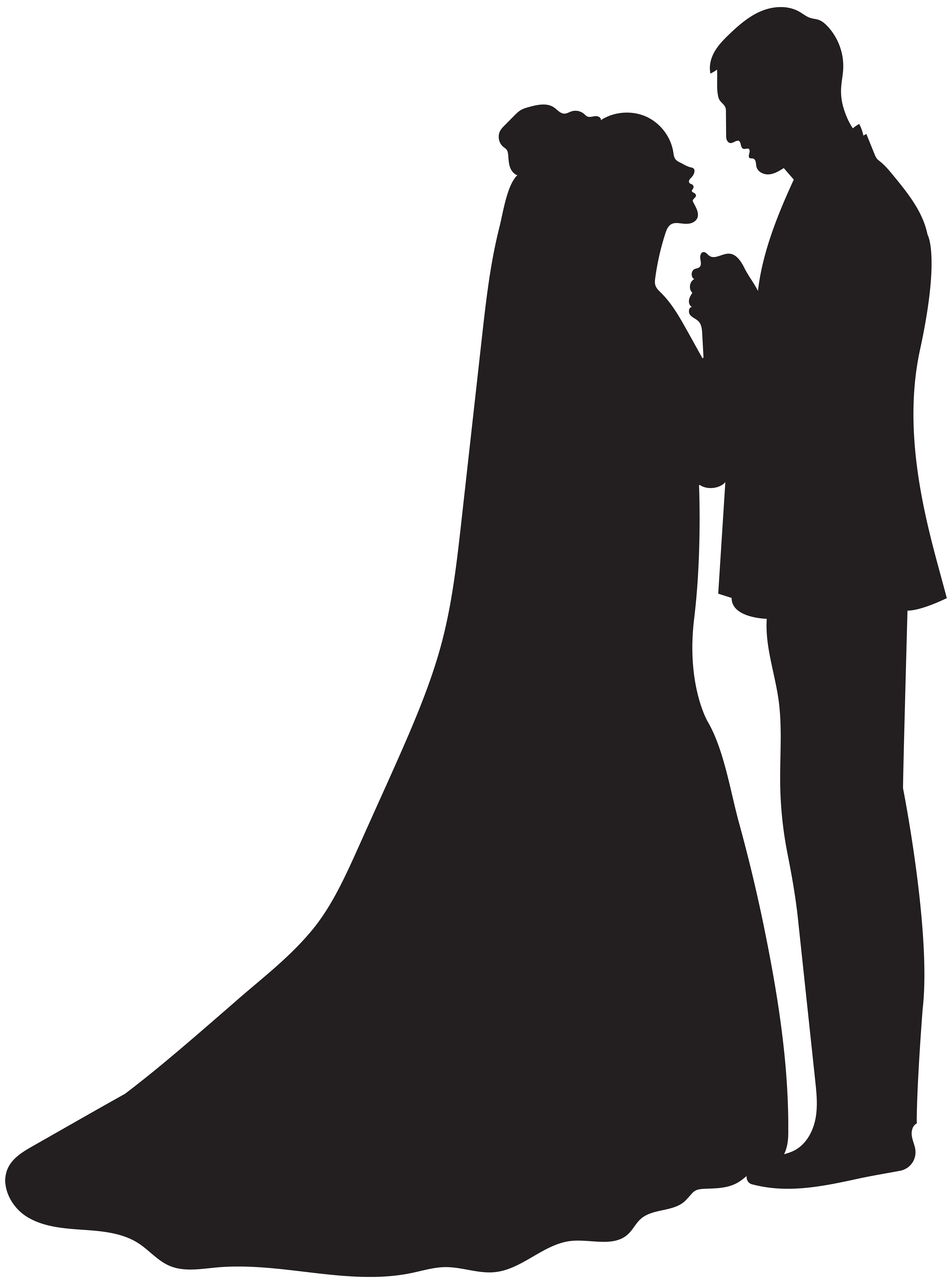 Marriage clipart married man. Bride silhouette at getdrawings